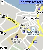 goole maps Kurunegala